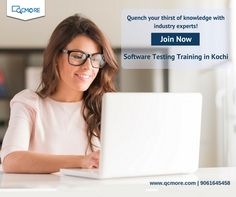 Get a thoroughly clear learning of Software Testing with QCmore Software Testing Training Institute Kochi's software testing training course in Kochi. Enquire us for more details Call @ 9061645458 | www.qcmore.com