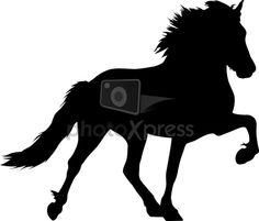 icelandir horses shilouette - Google leit