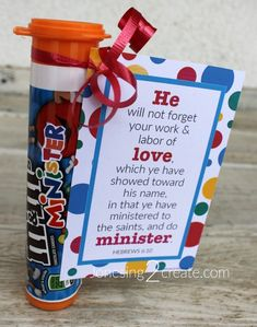 Change Mini to Minister! Free printable with the letters and handout. January 2018 Visiting Teaching Message.