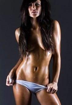 flat, toned abs of exotic #Fitness model : if you LOVE Health, Workouts & #Inspirational Body Goals - you'll LOVE the #Motivational designs at CageCult Fashion: http://cagecult.com/mma