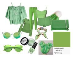 """""""greenery"""" by maafee18 on Polyvore featuring moda, Tallis, Jacob Cohёn, Karen Millen, gx by Gwen Stefani, Valentino, Moschino Cheap & Chic, Roberto Cavalli, MAKE UP FOR EVER e OPI"""