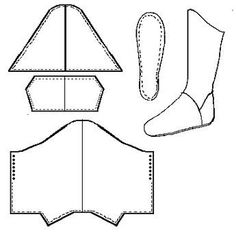 Speculative Khuff, that is, Persian Boots (Late Century) Doll Shoe Patterns, Costume Patterns, Clothing Patterns, Sewing Patterns, Sewing Crafts, Sewing Projects, Diy Accessoires, How To Make Shoes, Leather Pattern