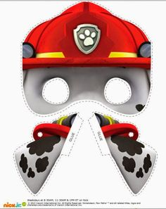 Cute Paw Patrol Free Printable Masks and Ears . You can use them for funny costumes , for a Paw Patrol Party, Carnival or Hallowee. Paw Patrol Marshall, Nick Jr Paw Patrol, Paw Patrol Masks, Paw Patrol Party, Paw Patrol Birthday, Third Birthday, 4th Birthday Parties, Birthday Fun, Printable Halloween Masks