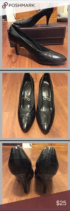 Vintage Crocodile Heels Vintage heels.  These have been well taken care of.  Excellent vintage condition 👌 Joyce Shoes Heels