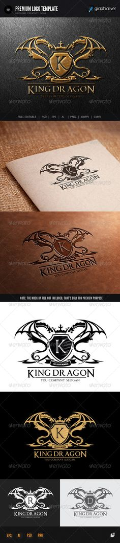 King Dragon — Photoshop PSD #game #fashion • Available here → https://graphicriver.net/item/king-dragon/6820929?ref=pxcr