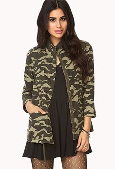 #F21CRUSH @Forever 21 Forever Cool Camo Utility Jacket | FOREVER21 - 2000074035