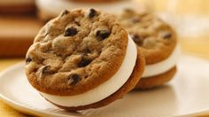 Pillsbury® chocolate chip cookies make this delightful dessert easy to make – cookies sandwiched with a marshmallow creme filling.