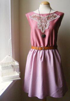 Jennifer Lilly Handmade Beautiful Dusky Rose Pink Dress, $40.00