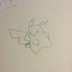 Pika pika!!! #pokemon #pikachu #badass #fanart #sketch #nintendo #sketchbook #anime #manga #videogames #nintendo3ds #doodle #draw #illustration #art #cartoon