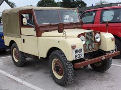 Land rover 88 series one. Sw. Soft top. Should have got rid of the awful brown paint!