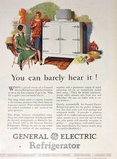 Vintage Ad Advertising / Refrigerator Ad / General Electric / 1920's Good Housekeeping Magazine Advertisement / Kitchen Ad / Kitchen Art