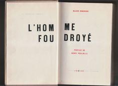 """""""L'homme foudroyé"""" de Blaise Cendrars - Le Club français du livre"""