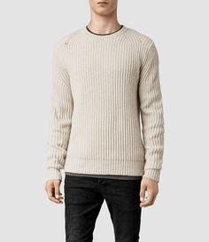 Mens Anjou Crew Sweater (Cinder Marl) - product_image_alt_text_1