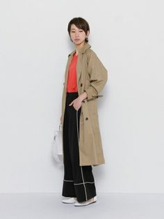 SENSE OF PLACE ONLINE STOREさんの「ルーズトレンチコート(SENSE OF PLACE by URBAN RESEARCH)」を使ったコーディネート