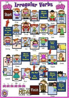 Irregular verbs gameboard