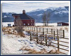 Octagonal barn | Triple Creek Ranch, Joseph, Oregon