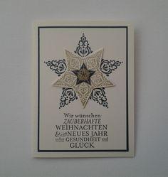 Stampin Up Zauberhafte Weihnachten Mitternachtsblau Gold