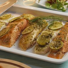To suit everyone's taste for fish! This trio features white, oily and smoked varieties. Ensure the fillets are the same size and thickness, so they all cook in the same time. Cooking can either be undertaken in the Roasting or Baking Oven. Aga Recipes, Oven Recipes, Cooking Recipes, Smoked Cod, Aga Cooker, Oven Baked, Salmon, Suit, Fish