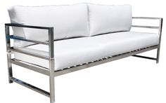 Cabana Coast Soho Deep Seat Sofa - Stainless Steel