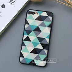 Fashion Geometry Triangle Case For iphone7 PLus 6 6S Plus 5 5S Back Cover