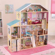 Casita de muñecas modelo Mansión Majestuosa de kidkraft de diseño clásico para decoración en habitación de niñas y juego.