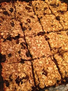 Fuhrmans Yummy, Quick And Easy Banana Oat Bars Recipe - Dr. Fuhrmans Yummy, Quick And Easy Banana Oat Bars Recipe - Plant Based Eating, Plant Based Diet, Sin Gluten, Gluten Free, Dr Fuhrman Recipes, Vegetarian Recipes, Healthy Recipes, Free Recipes, Bar Recipes