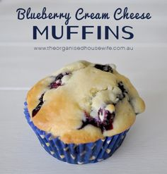 Blueberry Cream Cheese Muffins Print Prep time 15 mins Cook time 20 mins Total time 35 mins Author: Katrina Recipe type: Muffins Serves: 12 Ingredients cups self-raising flo. Cupcake Recipes, Cupcake Cakes, Dessert Recipes, Cupcakes, Dessert Ideas, Baking Recipes, Yummy Treats, Sweet Treats, Yummy Food
