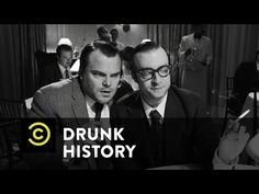 Using inside information gleaned by screenwriter Herman Mankiewicz, Orson Welles makes a movie that sharply criticizes William Randolph Hearst. The Comedy Ce. Drunk History, Drunk In Love, Orson Welles, Making A Movie, Jack Black, Visual Communication, Period Dramas, Screenwriting, Historian