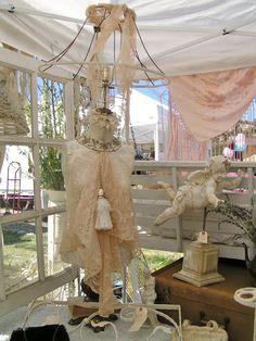 mannequin lamp ~ Blossoms Vintage Chic