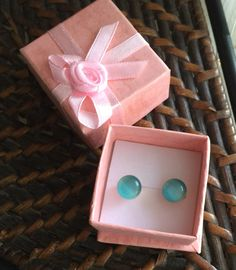 A personal favorite from my Etsy shop https://www.etsy.com/listing/450679742/cats-eye-baby-blue-stud-earrings