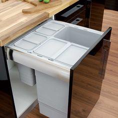 Kitchen Bins Waste Bin System, Packed Set, for Nova Pro Drawers, litres, Ninka - order in the Häfele U.