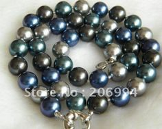 10MM Multicolor south sea shell pearl necklace