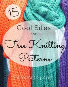 15 Websites for Free Knitting Patterns. Find the perfect knitting pattern with this list of 15 Knitting Websites. Some also share Free Crochet Patterns Easy Knitting, Loom Knitting, Knitting Stitches, Knitting Patterns Free, Free Pattern, Hat Patterns, Stitch Patterns, Knit Or Crochet, Pom Poms