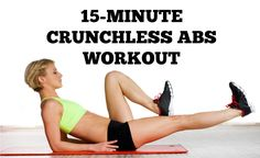 Crunchless Abs: 15-Minute Crunch Free Ab Workout | Postnatal, Ab Exercises  After Baby For New Moms