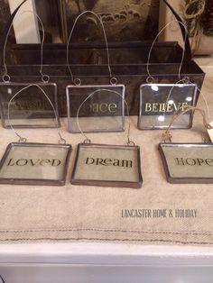 Golden Word Ornaments