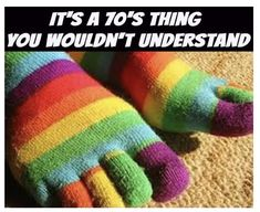 socks Yep had some just like this I was so proud wearing em with Memories Nostalgia 1970s Childhood, Childhood Toys, Childhood Memories, Toe Socks, Pet Rocks, I Remember When, Thats The Way, Ol Days, 90s Kids