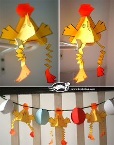 easter paper decoration