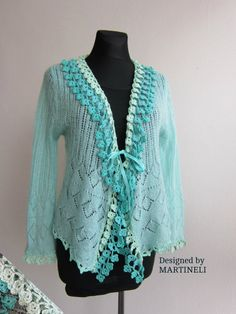 Green Crochet Bolero Bolero Jacket Women Crochet Top от MARTINELI
