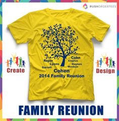 Family Reunion T-Shirt Ideas! Create your custom family reunion t-shirt for your next event. #RushOrderTees.com