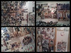 "Fan wall! ""Some of my bedroom wall"""