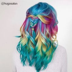 50 Dyed Hair Colors Ideas For Brunettes Galaxy Purple Blue Red Ombre Blonde Dyed Hair Ombre, Dyed Hair Purple, Dyed Blonde Hair, Red Ombre, Red Purple, Funky Hair Colors, Hair Dye Colors, Cool Hair Color, Colourful Hair
