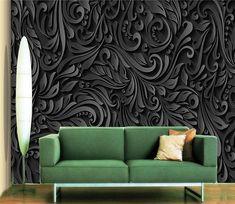 Custom Wall Murals, 3d Wall Murals, Wall Decals, 3d Wallpaper Black, Cheap Wallpaper, Brick Patterns, Wall Patterns, Brick Pattern Wallpaper, Blooming Flowers