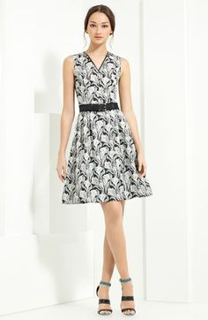 Jason Wu Floral Print Belted Dress
