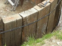 How to build a retaining wall with railway sleepers . - How to build a retaining wall with railway sleepers … – How to bui -