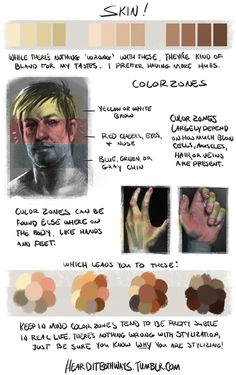 slimmerboo:  kawaikunaii:  hearditbothways:  Why do you do this to me  There's a reason behind color zones, but James Gurney does a much better job at explaining it than I do. Keep in mind this doesn't cover lighting, just the local color of skin. Although there are 'color palettes' here, I really wouldn't recommend using them for your own (as in saving the image and eye dropping them) art, I did this rather quickly so this probably not very accurate. These are just my personal preferences…