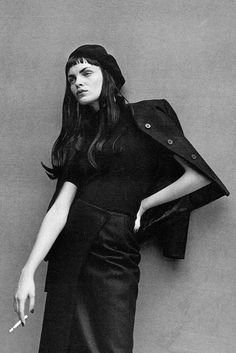Esther Canadas by Peter Lindbergh forVogue ItaliaOctober 1997