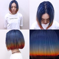 Pixelated The new hair color revolution Green Hair, Blue Hair, Hair Inspo, Hair Inspiration, Half Colored Hair, Aesthetic Hair, Dye My Hair, Hair Affair, Creative Hairstyles