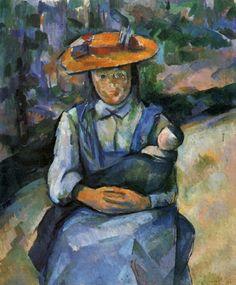 Jeune fille à la poupée - Paul Cézanne