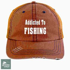 500f225e Addicted to Fishing Cap | Trucker Cap | Fishing Hats | Fishing Caps for Men