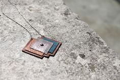 Chance necklace  / leather and brass by lalooshka on Etsy, $65,00